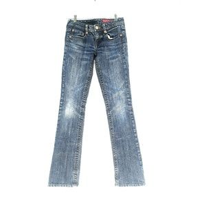 Seven 7 For All Man Kind Denim Boot Cut Blue Jeans